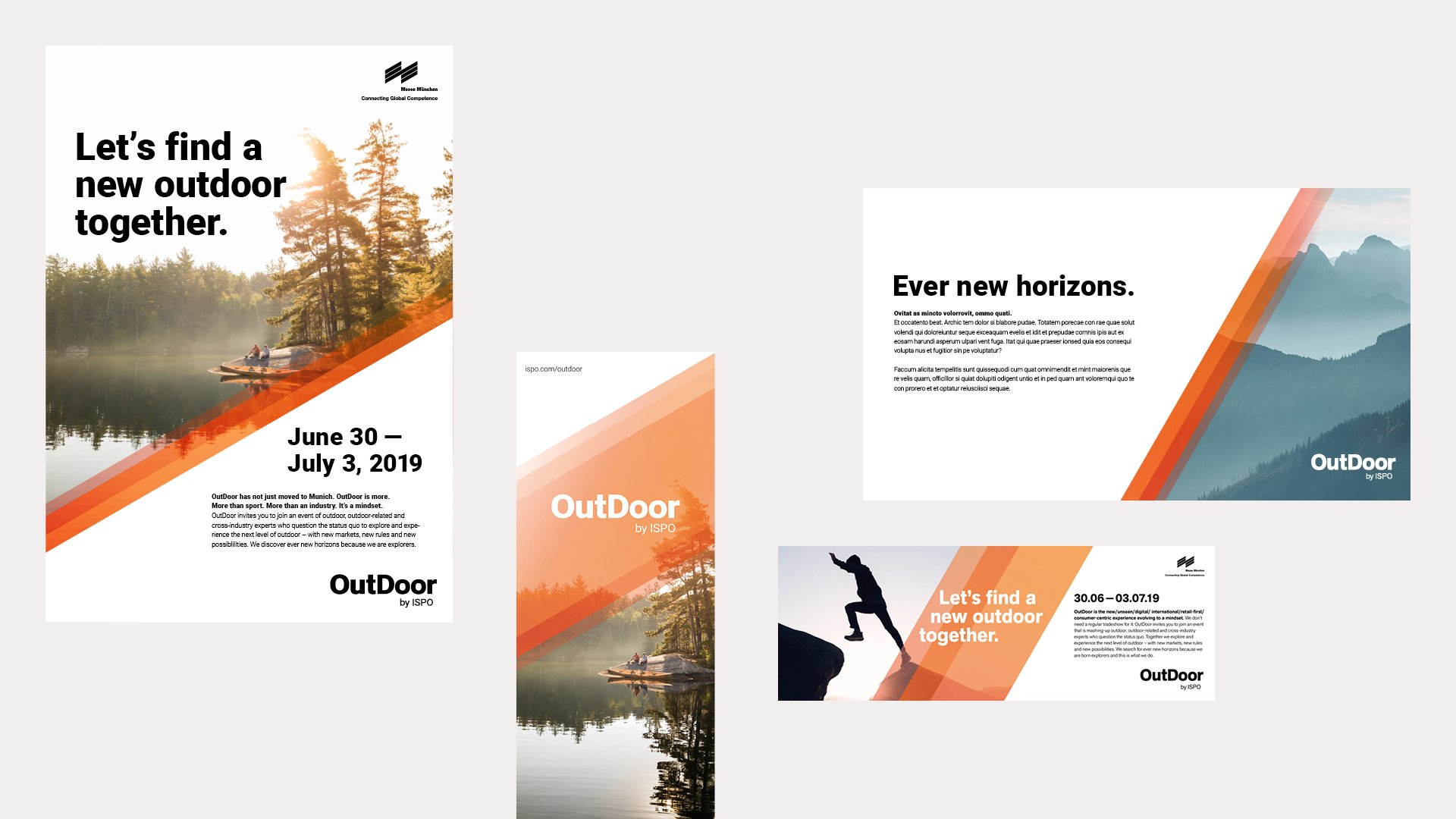 OutDoor by ISPO Corporate Design Dorten studios creative consultancy